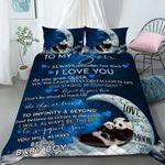 Custom Bedding Personalized Name Panda To My Son Comforter Set Duvet Cover Bedding Set - Gift for Son
