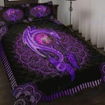 Custom Bedding Purple Mandala Dragon Art Bedding Set