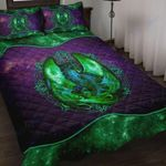 Custom Bedding Green Galaxy Dragon Art Bedding Set