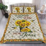 Custom Bedding In The Morning When I Rise Give Me Jesus Bedding Set #39106