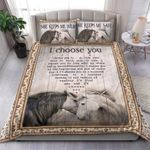 Custom Bedding Horse Bedding Set - The Beginning And End Of Everyday Heart Couple