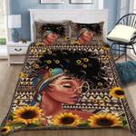 Custom Bedding Black Woman Sunflower Bedding Set - Gift for Woman