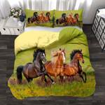 Custom Bedding Running Horses Bedding Set