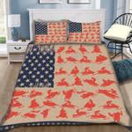 Custom Bedding SnowMobile American Flag Bedding Set