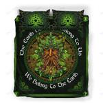 Custom Bedding Green Man Pagan Celtic Triquetra Wicca Bedding Set