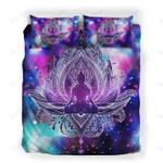 Custom Bedding Geometry Galaxy Buddha Lotus Bedding Set