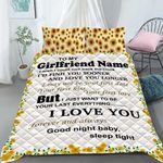 Custom Bedding Personalized Name To My Girlfriend Bedding Set - Gift for Girlfriend