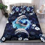 Custom Bedding Dolphin - Dolphins In Heart Bedding Set
