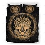 Custom Bedding Moon Wolf Golden Circle Paisley Bedding Set