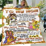Custom Blanket To My Mom Hippie My Loving Mother Blanket - Fleece Blanket