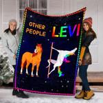 Custom Blanket Horse Personalized Name Blanket - Fleece Blanket