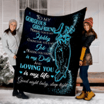 Custom Blanket To My Gorgeous GirlFriend Blanket - Fleece Blanket #32091
