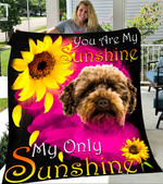 Custom Blanket Australian Labradoodle My Sunshine Blanket - Fleece Blanket
