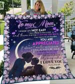 Custom Blanket To My Mom Blanket - Gift For Mom - Fleece Blanket #75318