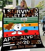 Custom Blanket Toilet Paper Apocolypse Blanket - Fleece Blanket