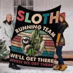 Custom Blanket Sloth Blanket - Fleece Blanket #33502