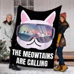 Custom Blanket Ski Snowboard Goggles Blanket - Fleece Blanket