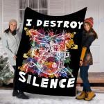 Custom Blanket Drumset Drummer Drumsticks Blanket - Fleece Blanket