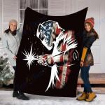 Custom Blanket Welder Blanket - Perfect Gift For Dad - Fleece Blanket