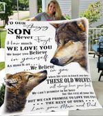 Custom Blanket To Our Amazing Son Wolf Blanket - Gift For Son - Fleece Blanket