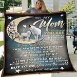 Custom Blanket To My Mom Wolf Blanket - Gift For Mom - Fleece Blanket #69541