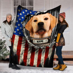 Custom Blanket Labrador Dog Personalized Name Blanket - Fleece Blanket