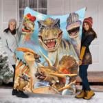 Custom Blanket Dinosaur Funny Blanket - Fleece Blanket