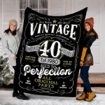 Custom Blanket Vintage 40th Birthday Blanket - Perfect Gift For Him - Fleece Blanket