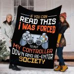 Custom Blanket Gaming Blanket - Perfect Gift For Boys - Fleece Blanket