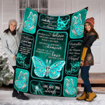 Custom Blanket Butterfly Saying Quote Blanket - Fleece Blanket