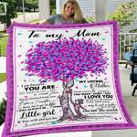 Custom Blanket To My Mom Blanket - Gift For Mom - Fleece Blanket #33693