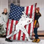 Custom Blanket Baseball Blanket - Fleece Blanket #56952