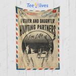 Custom Blanket Letter Deer Hunting Blanket - Gift For Father And Daughter - Fleece Blanket