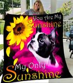 Custom Blanket Boston Terrier My Sunshine Blanket - Fleece Blanket