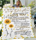 Custom Blanket To My Stepdaughter Blanket - Gift For Stepdaughter - Fleece Blanket
