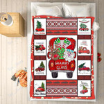 Custom Blankets - Grammy Claus Christmas Blanket - Fleece Blankets