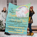 Custom Blanket Elephant To My Daughter Blanket - Gift For Daughter - Fleece Blanket #34117
