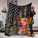 Custom Blanket PITBULL Dog Blanket - Fleece Blanket