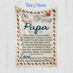 Custom Blanket Personalized Name Letter Papa We Hugged This Blanket - Gift for Papa