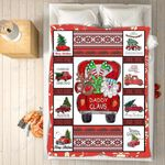 Custom Blankets - Daddy Claus Christmas Blanket - Fleece Blankets