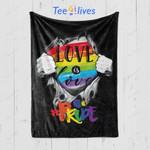 Custom Blanket Love Is Love Gay Pride LGBT Election Blanket - Fleece Blanket