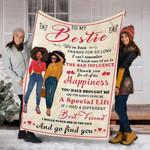 Custom Blanket To My Bestie Blanket - Perfect Gift For Bestie - Fleece Blanket