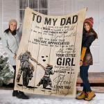 Custom Blanket To My Dad Blanket - Perfect Gift For Dad - Fleece Blanket