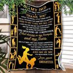 Custom Blanket To My Dad Blanket - Gift For Dad - Fleece Blanket #17772