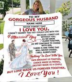 Custom Blanket To My Gorgeous Husband Personalized Name Blanket - Gift For Husband - Fleece Blanket