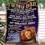 Custom Blanket Lion To My Dad Blanket - Gift For Dad - Fleece Blanket #12902