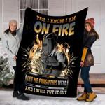 Custom Blanket Welder Blanket - Perfect Gift For Dad - Fleece Blanket #91595