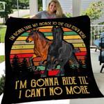 Custom Blanket Vintage Horse Blanket - Fleece Blanket