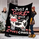 Custom Blanket Cow Blanket - Perfect Gift For Girl  - Fleece Blanket