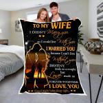 Custom Blanket To My Wife Blanket - Perfect Gift For Wife - Fleece Blanket #77083
